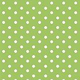 babrause® Baumwollstoff Punkte Grün Webware Meterware