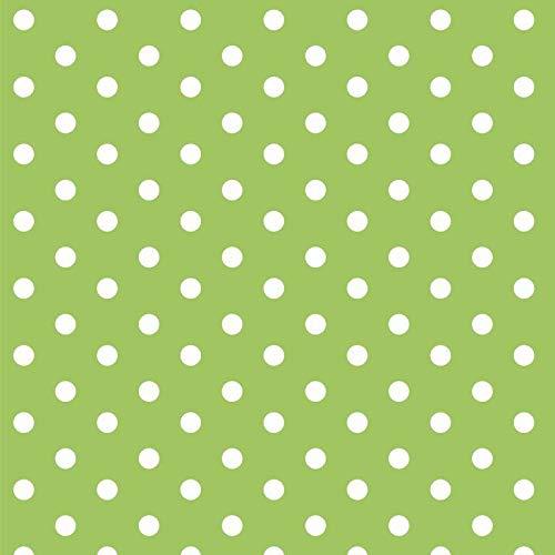 babrause® Baumwollstoff Punkte Grün Webware Meterware Popeline OEKOTEX 150cm breit - Ab 0,5 Meter