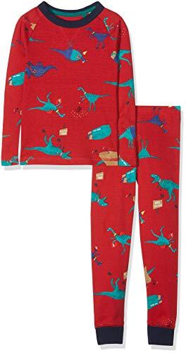 Tom Joule Jungen Kipwell Zweiteiliger Schlafanzug, Rot (Red Dino Reddino), 134 (Herstellergröße: 9-10)
