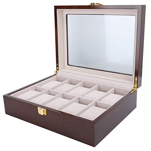 KASD Caja de Reloj, fácil de Limpiar Caja de Almacenamiento de Reloj Visible Diseño Exquisito para Amigos para Uso Personal Exhibición de Tienda para decoración del hogar
