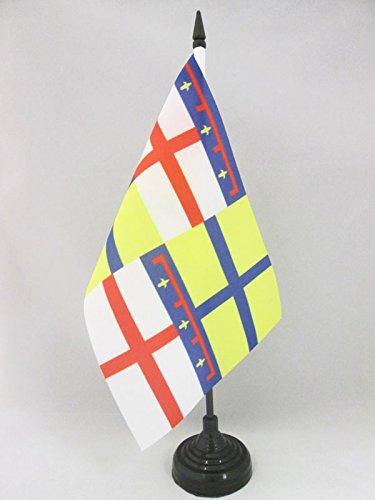 AZ FLAG Bandera de Mesa de la Region DE Emilia 21x14cm - BANDERINA de DESPACHO DE Emilia - Italia 14 x 21 cm