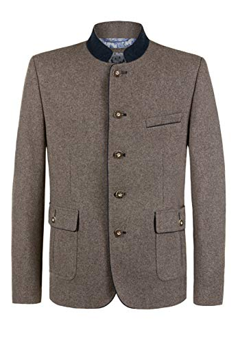 Stockerpoint Herren Justus Business-Anzug Jacke, nuss-blau, 50
