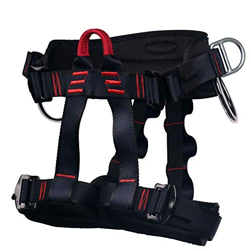zvcv Thicken Climbing Harness Protect Waist Half Body Harnesses Widen Harness Rappelling Equipment