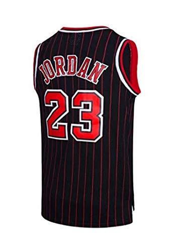 A-lee Men s Jersey toros Vintage campeón de la NBA, Michael Jordan Jersey Chicago Bulls 23 El Jugador # Malla Jersey de Baloncesto (Black, L)