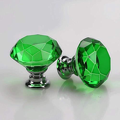Handvat van de deur 10 stuks Crystal Glass Kastknoppen 30mm Vorm van de Diamant Drawer keukenkastjes buffetkast Wardrobe Pulls Handles Multipurpose Gemakkelijk Geschikt te installeren for woning, kant