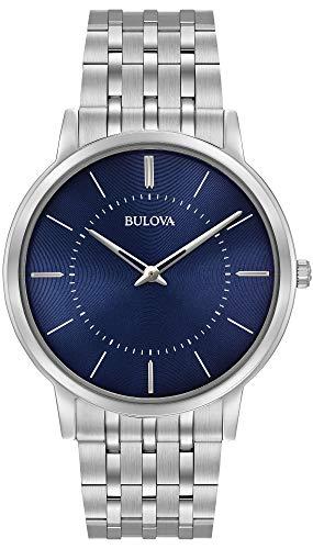 Bulova 96A188 - Reloj de Pulsera de Diseño para Hombre - Ultrafino - Acero Inoxidable - Esfera Azul