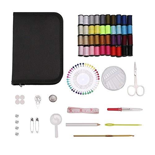 Práctico Caja de viajes 127Pcs / Set Kit de costura del hilo de coser puntadas agujas de tejer Herramientas de tela Botones regalos del arte de tijera mamá de Navidad Adicional ( Color : 127PCS )