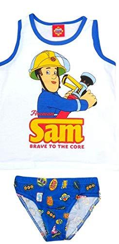 Pariser-Mode Sam Feuerwehr Komplett-Sets - Slip & Hemd, 128-134 Unterwäsche,für den Jungen mit dem Bild Feuerwehrmann Sam Jungen Herbst winter Baumwolle