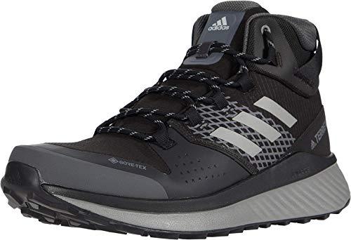 adidas Men's Terrex Folgian Hiker Mid Gortex Hiking Boot, Black Grey, 6 M US