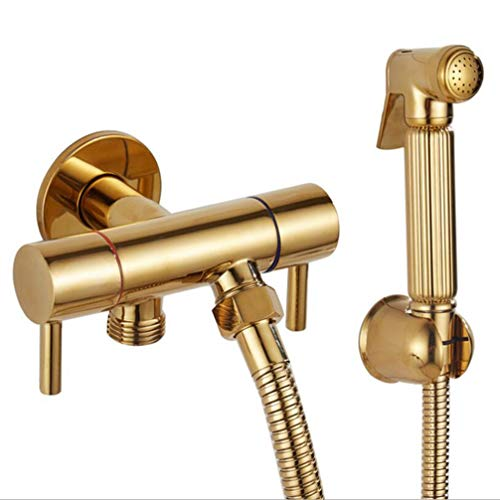 Lowest Price! FZHLR Double Use Bathroom Bidet Faucet Toilet Bidet Shower Set Portable Bidet Spray Ab...