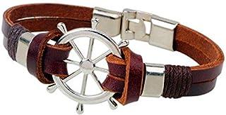 Rudder Leather alloy men Bracelet