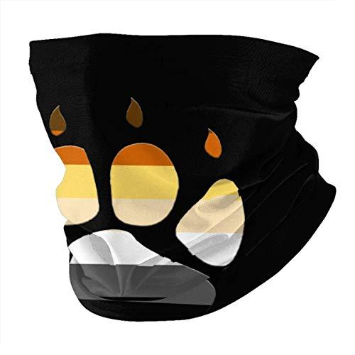 Tzshak Fierté Gay LGBT Drapeau Ours Patte Griffe Coupe-Vent Chapeaux Bandeau écharpe Visage Masque Lavable poussière Cou Bandana Masque Cagoule