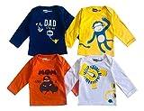 Piku Store Full Sleeves White, Yellow, Royal Blue & Orange T-Shirts for Ba