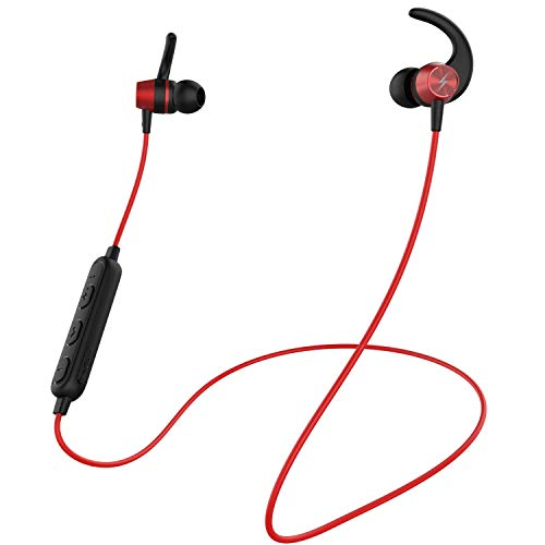 Fire-Boltt Echo 1200 Bluetooth Neckband, BT 5.0 Earphones, Wireless Headsets with Voice Assistance, with HD Stereo Sound & Great Playtime (Red)
