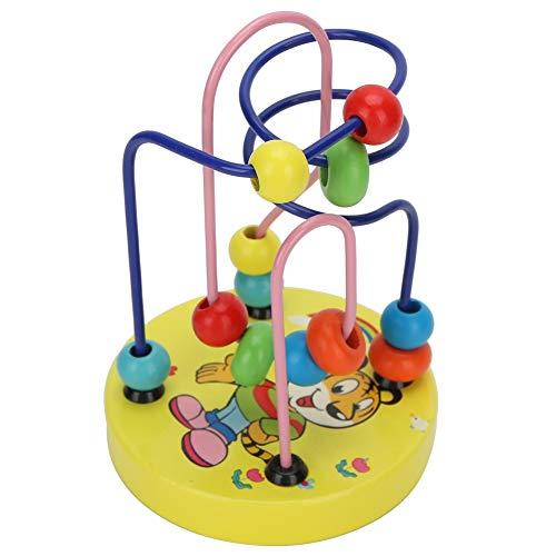 Asixxsix Juguete para niños, Regalo de cumpleaños, Regalo para niños, Laberinto, 3,5 x 5,1 en Interesante patrón de Tigre, Laberinto de Cuentas Redondas, Juguete para Jugar a los niños