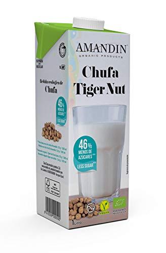 AMANDIN Bebida de Chufa con Jarabe de Agave - Paquete 6x1000ml