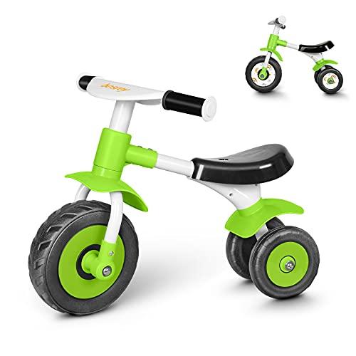 besrey Bicicletta Senza Pedali,Bici Senza Pedali per Bambini da 1 Anno a 2 Anni (10-24 Mesi),Balance Bike Baby,Bicicletta Equilibrio,Verde