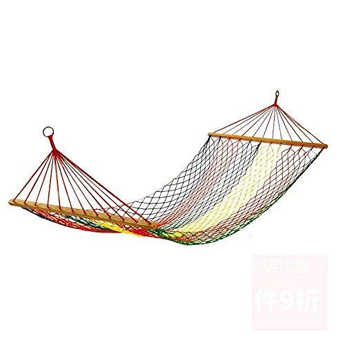 JGWHW Extra große brasilianische Maya-Hängematte? Tragbare Einzel- oder Doppelhängematte? Handgefertigt aus 100% weicher Baumwolle