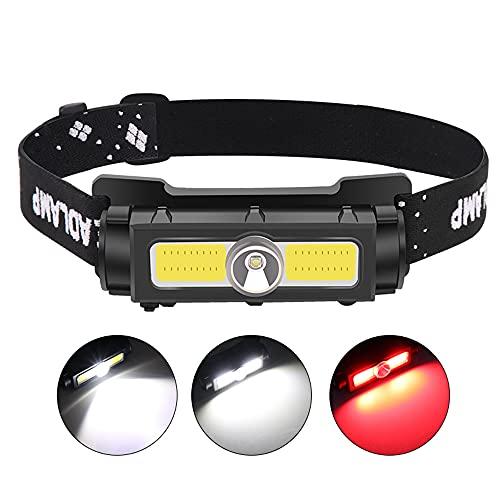 Super brillante XPG+COB LED faro conjunto batería incorporada con imán linterna para correr camping pesca linterna linterna