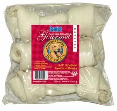 IMS Trading 10009 3-Pack Natural Rawhide Bone for Dogs, 8-Inch by TV Non-Branded Items (Pets)