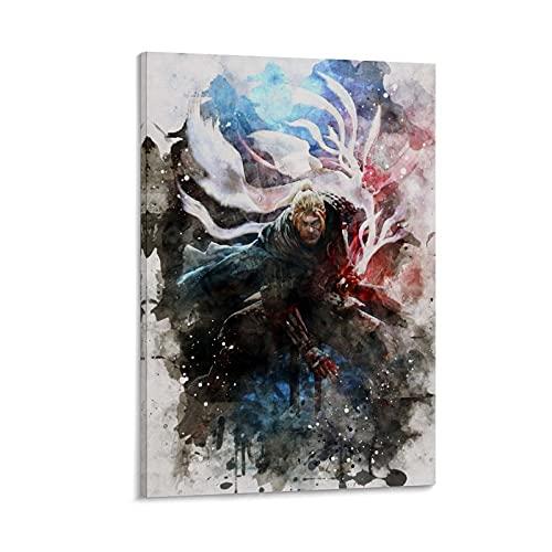 MMJH Nioh 2 (2) Leinwand Kunst Poster und Wandkunst Bilddruck Moderne Familienzimmer Dekor Poster 24x36inch(60x90cm)