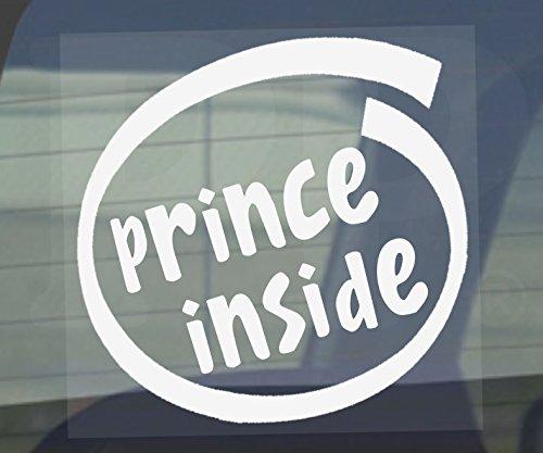 myrockshirt Adhesivo Prince Inside 17 cm Auto adhesivo barniz luna trasera Baby Bord de alto rendimiento pantalla sin fondo calidad profesional muchos colores a elegir fabricado en Alemania