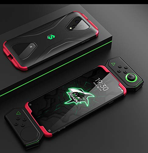NOKOER Hülle für Xiaomi Black Shark 3, 3 in 1 All Inclusive Anti Fingerabdruck Handyhülle, 360 Grad Schutz Hülle [Ultra Slim] [Stoßdämpfung] Harte Schutzhülle - Rot schwarz