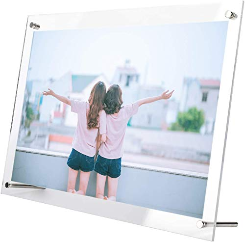 Takelablaze アクリルフォトフレーム 写真立て L判 スタンドタイプ 透明 写真フレーム 卓上展示ピクチャー、ポスター、絵画、賞状 (KG判 (102×152mm))