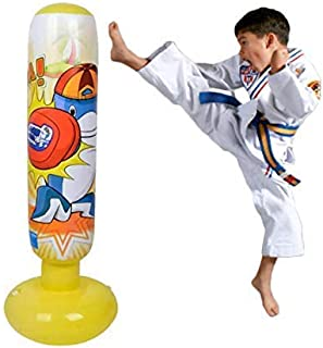 Mapow Children's Inflatable Punching Bag Water Weighted Base Premium Exercise Toy for Boys and Girls- Boxing Bag for Kids, Exercising, Self-Defense Training, Sports, Physical Fun