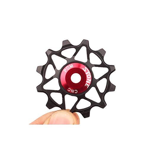 Stone - Polea de cambio trasero para bicicleta Pom NSK Rodamiento Jockeys MTB Bicicleta de Carretera, rodillo de rueda estrecha grande Deeth Jockey 10T 12T 14T 16T