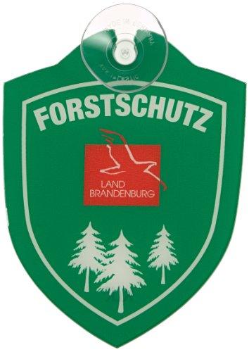 Waidmannsbruecke Erwachsene Forstschutz Brandenburg Autoschild, Grün, One Size