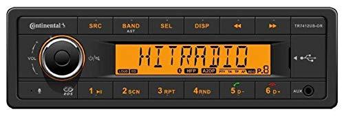 Continental TR7412UB-OR - MP3-Autoradio mit Bluetooth / USB / AUX-IN