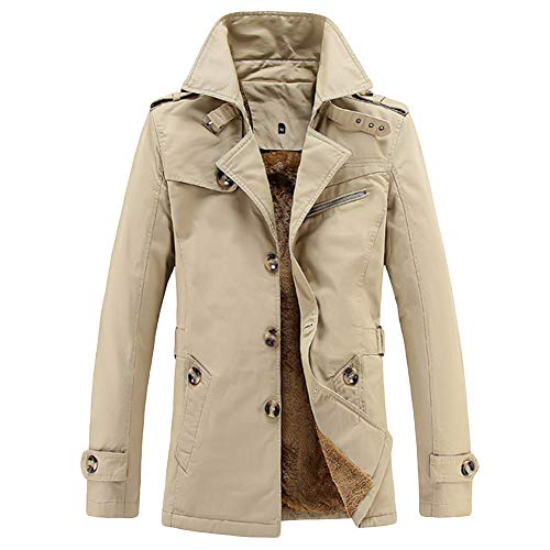 YOUTHUP Giacca da Uomo Casuale Inverno Regular Fit Trincea Coat Fodera in Pile Cappotti