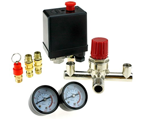 220V 16A Neu Druckregler+ Druckschalter Schalter fuer Luft Kompressor