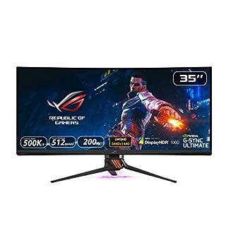 Asus ROG Swift PG35VQ - Monitor curvo Gaming de 35'' WQHD (3440 x 1440, 240 Hz, 4 ms, 16:9, HDR, 21:9, 200 Hz, G-Sync, USB, HDMI, DisplayPort) Negro (B07SV4XS2Q) | Amazon price tracker / tracking, Amazon price history charts, Amazon price watches, Amazon price drop alerts