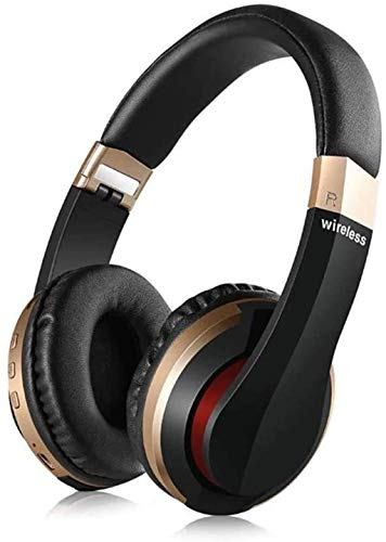 NCRD Auriculares de cancelación de ruido Auriculares Bluetooth con micrófono Auriculares inalámbricos de graves profundos sobre oreja, Earpads de proteínas cómodas, largas horas de juego para viajes /
