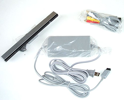 Video Game Accessories New Wii Complete Hookup Connection Kit Composite AV Cable, Power Cord Sensor Bar