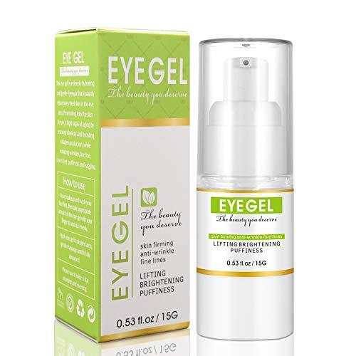 Eye Gel for Anti-wrinkles and Skin Firming, Hydrating Eye Serum Moisturizing for Puffy Eyes Dark Circles Eye Bags, Eye Cream for Anti Aging