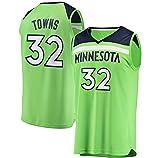 DFGHU Timberwolve - Camiseta de baloncesto para hombre, diseño de ciudades de limpieza repetible, color verde