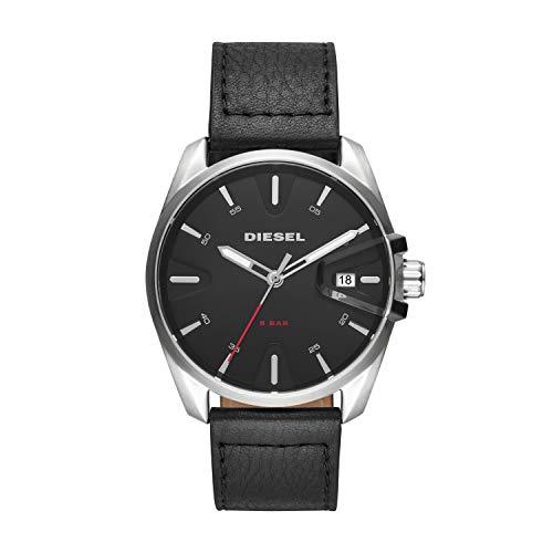 Diesel Herren Analog Quarz Uhr mit Leder Armband DZ1862