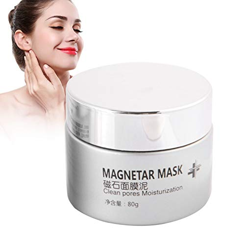 80 g Negro Máscara de barro magnética Mascarilla mineral Mascarilla limpiadora de polvo humectante Crema facial