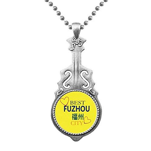 Fuzhou Icon Sign Art Deco Gift Fashion colgante joyas música guitarra Torque Star Moon