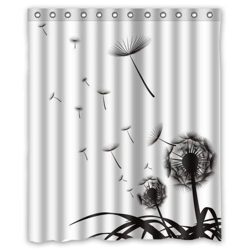 Presock Duschvorhänge, Honey Day House Dandelion Waterproof Shower Curtain Gift Choice 60 X 72 Inch Shower Curtains Hooks Included