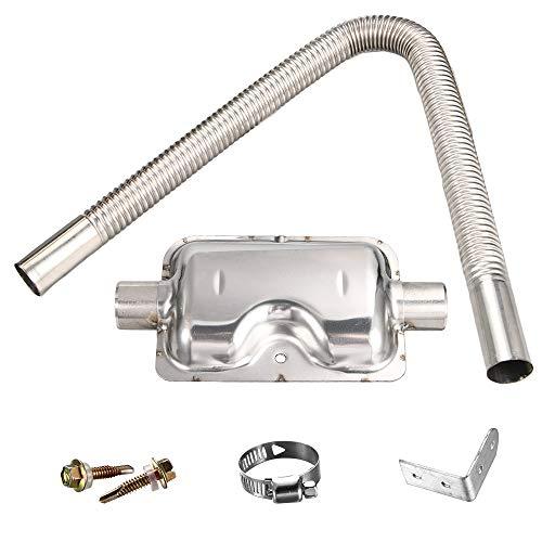 KingFurt F/ür Air Heater Diesel Standheizung Abgasrohr Edelstahl Abgasschlauch 120cm /Φ25mm