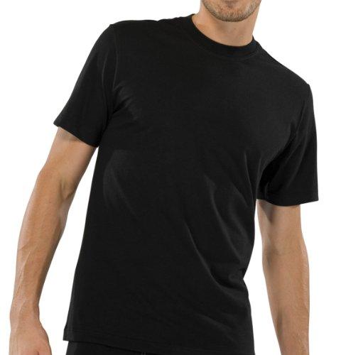 Schiesser 2 Stück American T-Shirt Rundhals Herren T-Shirt - Schwarz: Größe: XXL (Gr.8)