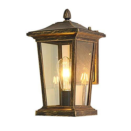 Binnen Buiten Muur Lantaarn waterdicht, wandkandelaar Lamp met heldere glazen kap, gegoten aluminium verlichtingsarmatuur for Deck, Porch & Living Room