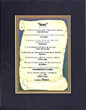 Inspirational Poem - Anyway by Mother Teresa Poem on 11 x 14 CUSTOM-CUT EXTRA-WIDE Double Beveled Matting (Black on Gold)