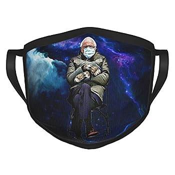 Bernie Sanders Black Face Mask Reusable Adjustable Face Protection Balaclava Black Border