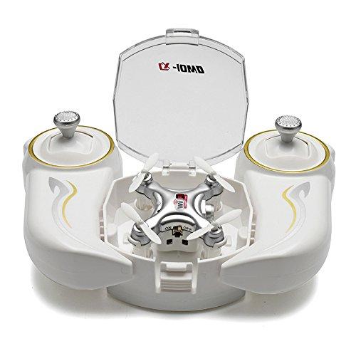 Realacc CX-10WD-TX 2.4G Remote Control 4CH 6-Axis Nano Wifi FPV Mini Quadcopter Drone with HD Camera (Grey)