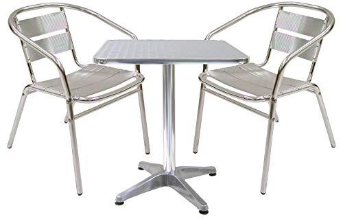 Set complet cuisine aluminium 2 chaises et table de balcon bar pour Maison